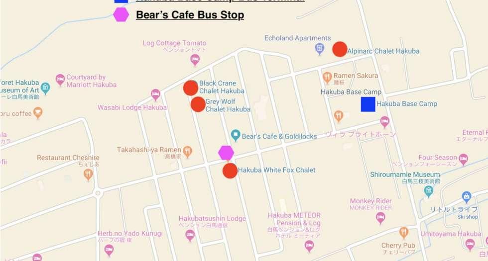 hakuba echoland shuttle bus stops